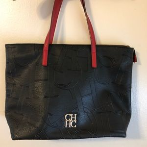 Carolina Herrera classic leather tote bag
